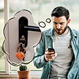 Porte-clés Connecté pour Retrouver Tous Vos Objets(Clés,Portable,Tablette,Portefeuille,Sac.) Localisateur d'objets et Traqueur Sonore,Key Finder Anti-Perte (Orange)