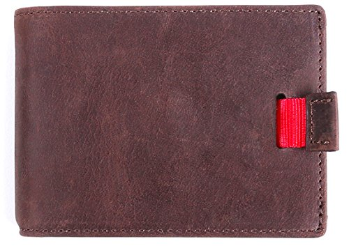DUEBEL Leather Front Pocket Wallets with Money Clip - RFID Blocking Minimalist Wallet for Men -