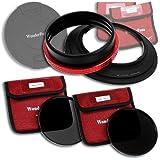 WonderPana 145 Kit ND - 145mm Porte-Filtre, Bouchon d'Objectif, et Filtres ND16 et ND32 pour l'objectif Nikon 14-24mm Nikkor f/2.8G