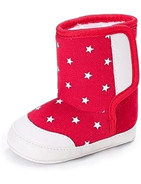 Igemy 1 Paar Sterne Baby Soft Sohle Snow Boots Soft Crib Schuhe Kleinkind Stiefel