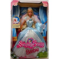 Barbie 1998 Sleeping Beauty Doll with Dress, Shoes and Musical Pillow Plus Her Eyes Magically Open and Close