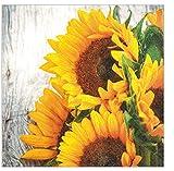 HomeFashion Servietten Serviette 33x33 cm Herbst 20 Stück 3-lagig 1/4 gefalzt • mehrere Motive zur Auswahl (Serviette Sonnenblumen)