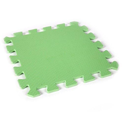 e1b012578f3 Kicode 9 PCS Puzzle Colchoneta de ejercicio de juegos para niños Con la  alta calidad de la espuma de EVA que entrelaza Azulejos