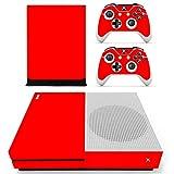 Stillshine Xbox One S selbstklebend Konsole Vinyl Skin Decal Sticker & 2selbstklebend Controller & 1selbstklebend Kinect Set rot All Red