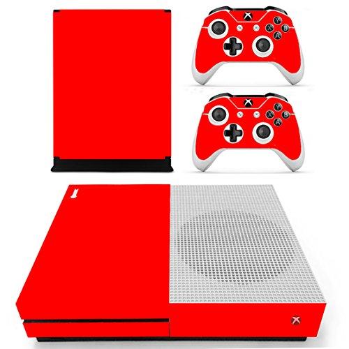 Preisvergleich Produktbild Stillshine Xbox ONE S Design Folie Vinyl Aufkleber Skin für Konsole + 2 Controller + Kamera Sticker Set (All Red)