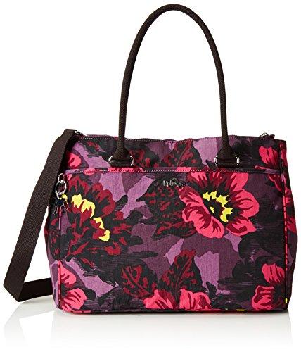 Kipling New Halia, Borsa con Maniglia Donna, Multicolore (REF353 Rose Bloom), 37x29x14 cm (B x H x T)