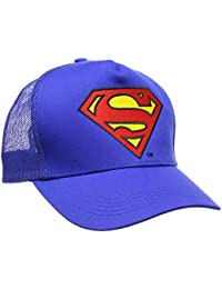 Superman Unisex Baseball Cap Logo, Blue (Azure Blue), One size