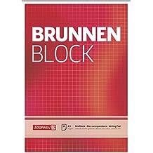 Brunnen 1052428 Briefblock / Schreibblock / Der Brunnen Block (A5, kariert, 50 Blatt, 70 g/m²)