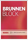Brunnen 1052428 Briefblock/Schreibblock/Der Brunnen Block (A5, kariert, 50 Blatt, 70 g/m²)
