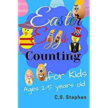 Easter Eggs Counting : 0-20 Numbers English and Spanish Funny Eggs Counting Book for Kids Ages 2 - 5 Years Old: The First Counting and number activity ... to play with you at home. (English Edition)