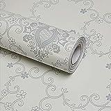 LoveFaye selbstklebendes und wiederablösbares Kontaktpapier im viktorianischen Stil, Aufkleber aus PVC für Regale und Schubladen, 45x 300cm