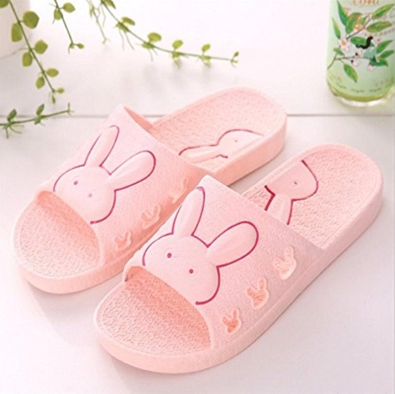 DDOQ Mejor Zapatillas de Baño de Dibujos Animados para Mujer Zapatillas de Interior Sandalias Antideslizantes...