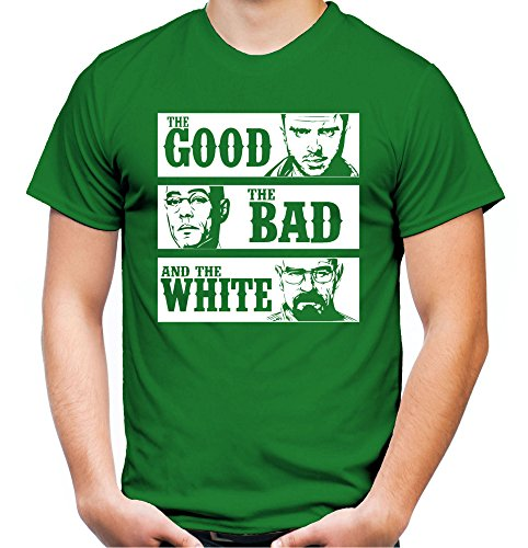Breaking Ideen Bad Kostüme (The Good the Bad and the White Männer und Herren T-Shirt | Spruch Walter Heisenberg Geschenk (S,)