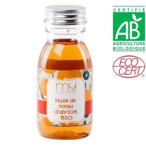 Huile végétale de noyau d'abricot BIO - Volume : 125 ml - MyCosmetik