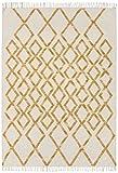 Asiatic Teppich Wohnzimmer Orient Carpet klassisches Design Hackney KELIM Diamond Rug 80% Wolle 20% Jute 160x230 cm Rechteckig Gelb | Teppiche günstig online kaufen