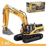 Escavatore In Metallo Di Metallo Trattore Giocattolo Per Camion, Escavatore In Metallo Pesante Modello In Ghisa Giocattolo In Scala 1:40
