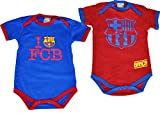 2Barça-Baby-Bodys für Jungen, offizielle Kollektion FC Barcelona, Babygröße 3 Monate blau
