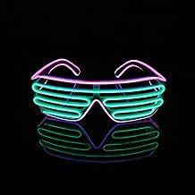 Lerway Bianco Telaio 2 Colori Novità LED Maschera Occhi Occhiali
