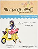 Stamping Bella Rubber Cling Stamp 6.5-inch x 4.5-inch, Uptown Girl Vienna and Her Vespa