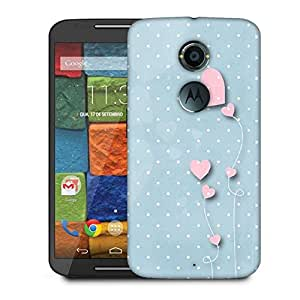 Snoogg Pink Balloons Blue Dots Designer Protective Phone Back Case Cover For Moto X 2nd Generation