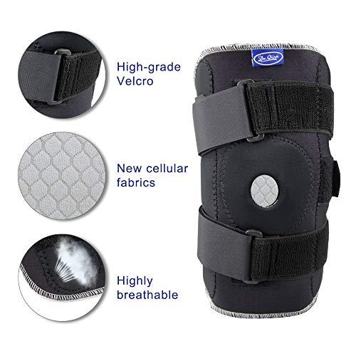 RTGFS Einstellbare Atmungsaktive Knieorthese Orthopädischer Stabilisator Knieschützer Stützschutz mit Innenflexiblem Scharnier SportknieschützerXXL (Arthritis Xxl Knieorthese Für)