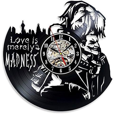 Harley Quinn para Love Joker–Reloj de pared Decora tu hogar con moderno grande Suicidio Squad Art–Mejor regalo para él y para ella–Win un premio para