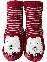 Newborn Baby Boy Girl Cartoon Eyes Floor Sock Anti-Slip Baby Step Shoes Sock UK