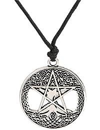 fishhook Collar con Colgante de Nudo Celta del pentáculo del árbol de la Vida religioso Wicca