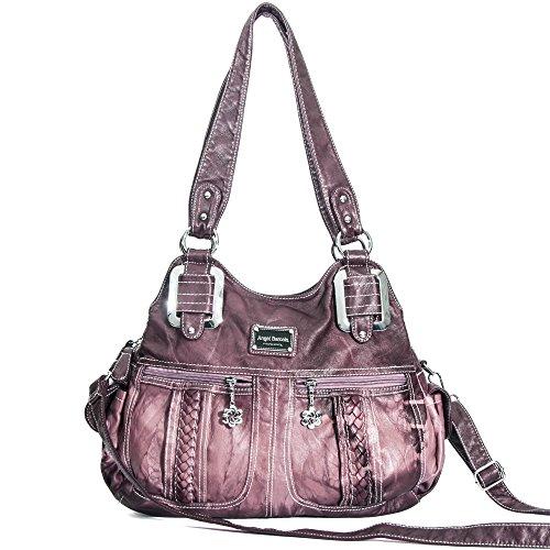 Damen Handtaschen Umhängetasche Hobo Taschen Tote Schultertaschen Henkeltasche Handtasche (0038 Lila) (Fashion Hobo Tote)