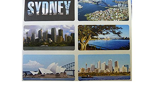 City Sights /& Landmarks Sticky Labels Stickers 15 Sydney SYD5125 Australia