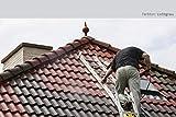 12KG Dachfarbe in Lichtgrau für Ziegel, Dachpfanne, Eternit TÜV-GEPRÜFT Dachsanierung Dachbeschichtung Dachziegel Farbe Grau