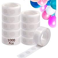 1000 Pcs Points de Colle Ballon, Colle Ballon Double Face Dots Ruban Colle, Amovible Autocollant Point Adhésif pour…