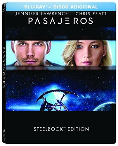 PASSENGERS - STEELBOOK (Pasajeros - Steelbook) BLU-RAY + BONUS DISC (English and Spanish Audio & Subtitles) REGION FREE