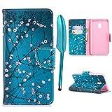 Nokia 1 Hülle Case PU Leder Tasche Handyhülle Schutzhülle Schale Bookstyle Ständer Kartenfach Magnetverschluss Brieftasche for Nokia 1, Pink Flower at Green Background