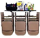 StoreYourBoard Omni Chair Rack Rack e Storage Shelf, Pieghevole e Sedia da Spiaggia Montaggio a Parete, Sistema di Appendiabiti per la casa e Il Garage (Nero)