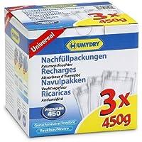 HUMYDRY® Recambios Antihumedad - Paquete de 3 x 450 gr - Total: 1350 gr