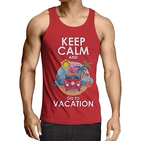 N4442V Camiseta sin mangas Keep Calm and Go to Vacation