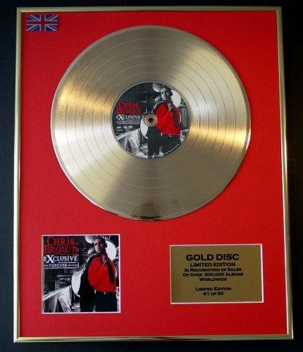 CHRIS BROWN/Goldene Schallplatte Record Limitierte Edition/THE FOREVER EDITION