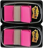 Post-it 680-BP2 Haftstreifen Index Standard, 2 x 50 Haftstreifen im Spender, 25,4 x 43,2 mm, pink