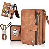 Custodia Galaxy S8 Plus, Cornmi 14 Slot per scheda Serie Zipper Custodia a portafoglio Custodia in pelle PU con ripieno di alta qualità con