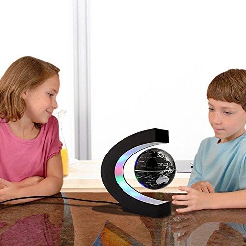 C levitazione magnetica LED Rotating Globe World Map sfera galleggiante Globe Decorazione Della Casa Regali Compleanno Imparare l'istruzione Insegnamento Ufficio - 5