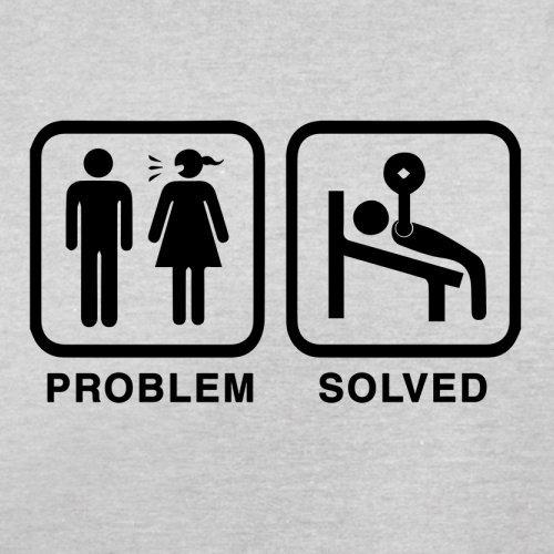 Problem gelöst - Fitnessstudio - Herren T-Shirt - 13 Farben Hellgrau