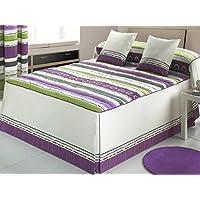 Tejidos JVR - Colcha edredón TWIST cama 105 - Color Teja