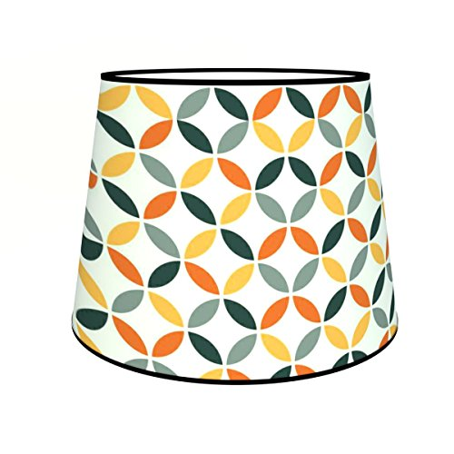 Abat-jours 7111305347363 Conique Léo Lampadaire, Tissus/PVC, Multicolore