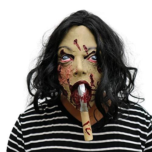 WSJDE Halloween Horror Clown Masken Männer und Frauen Gruselige Gesichter Hauszombies Erwachsene Zombies Death Party SuppliesBlau (Blue Mann Group Kostüm Für Erwachsene)