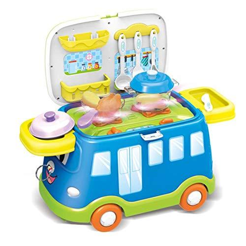 advicwon Kinder Spielzeug Vorgeben Simulation Fast Food Auto Modell Küche Grill Spielzeug Kinderspielhaus Küche Spielzeug
