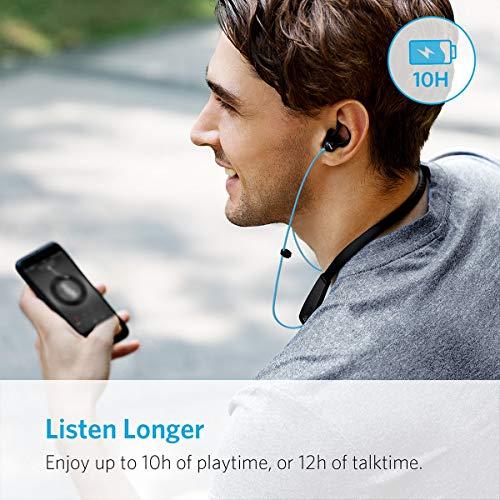 Anker SoundBuds Lite Bluetooth Kopfhörer, Leichtes Nackenband Headset, IPX5 Wasserfestes Sport In-Ear-Headset mit Geräuschreduzierung und In-Line Mikrofon (Blau) - 4