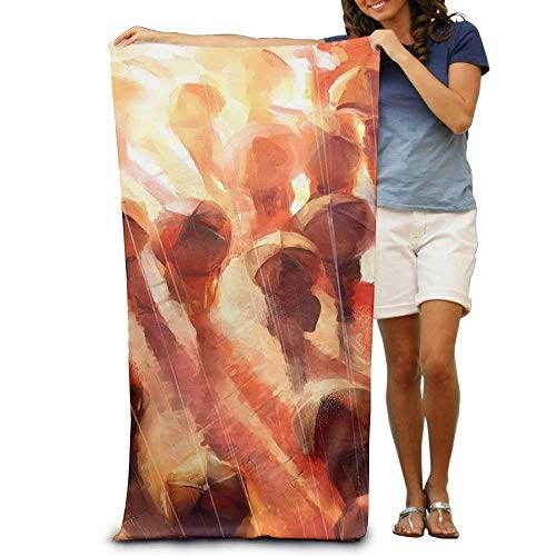 AORSTAR Picknickdecke,Stranddecke Strandtuch,Night Rainy Umbrella Printting Beach Bath Towel Extra Large Microfiber Towel for Swim Beach Chair Cover 31.5
