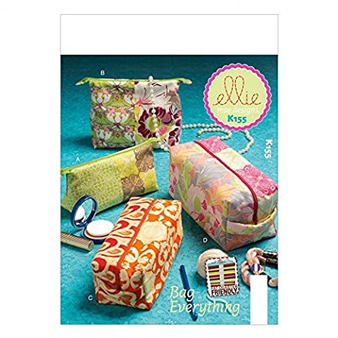 Kwik Sew Accessories Easy Sewing Pattern 0155 Travel Bags / Make Up Cases