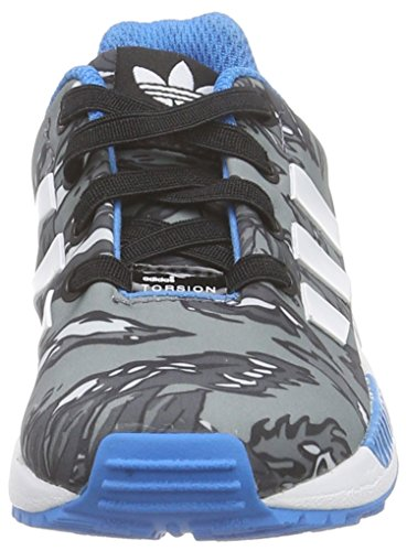 adidas Originals ZX Flux Unisex-Kinder Sneakers Grau (Core Black/Ftwr White/Solar Blue2 S14)